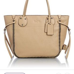 Coach Bags - Coach Nude Whiplash Leather Tatum tote